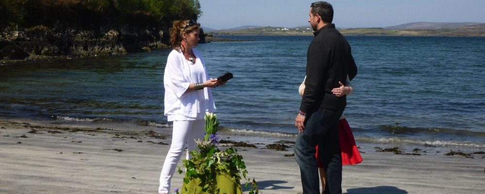 Handfasting Ceremony on Scottish beach