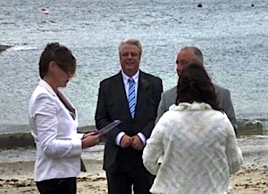 Couple Getting Married At Elgol Beach Wedding And The Cuillin Hills Skye