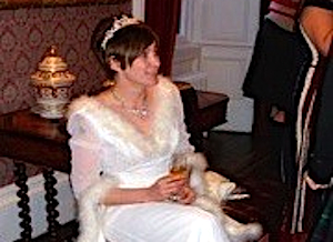 Newly Wed Bride At Her Scottish Wedding Reception
